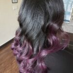 Purple ombre highlights