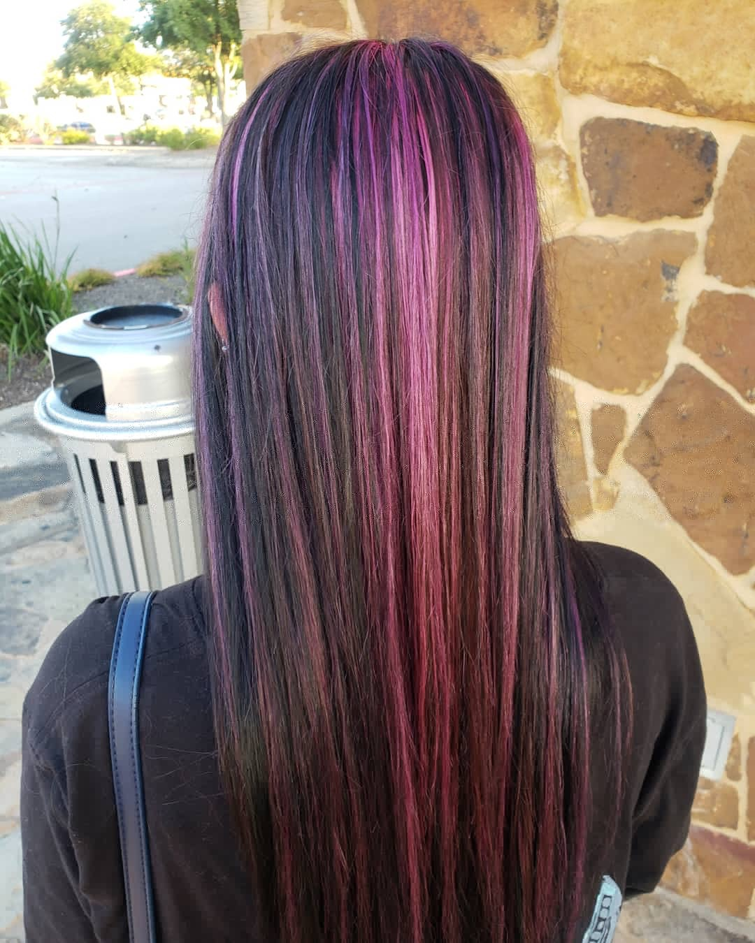 Foil pink highlights